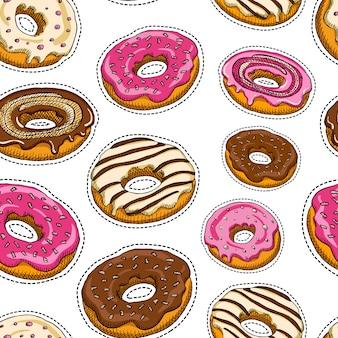 Dessert naadloos patroon