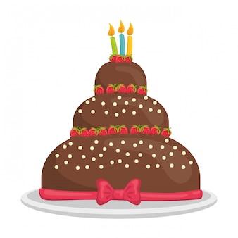 Dessert taart ontwerp.