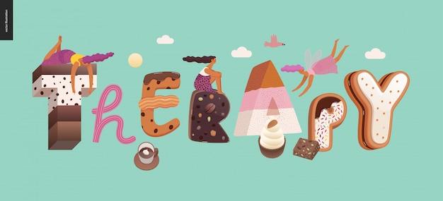 Dessert verleiding lettertype