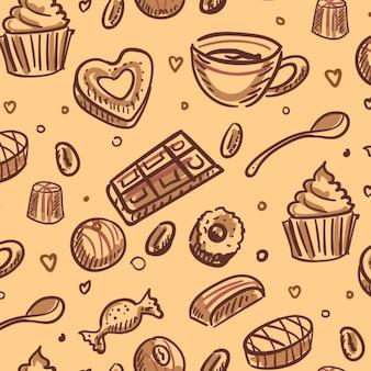 Desserts achtergrond