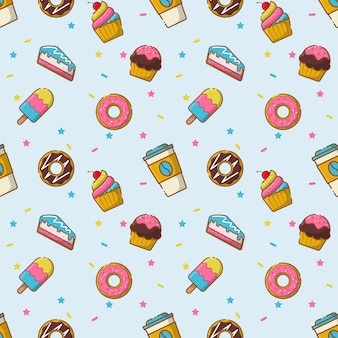 Desserts naadloos patroon
