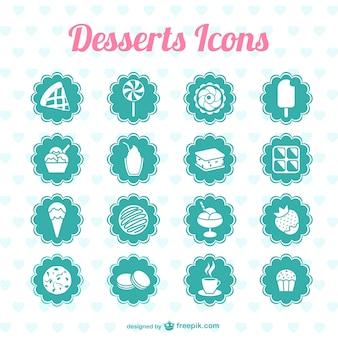 Desserts pictogrammen vector graphics