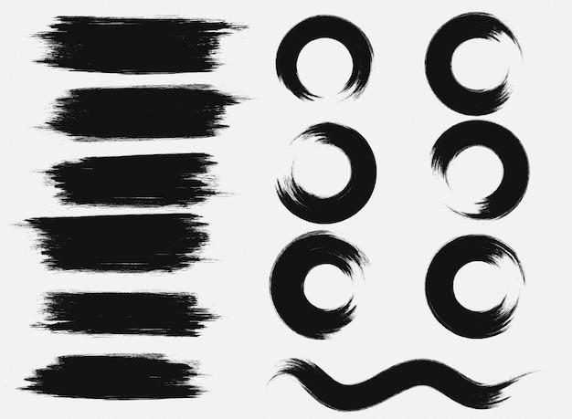 Detail penseelstreek zen collectie