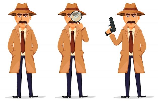 Detective in hoed en jas