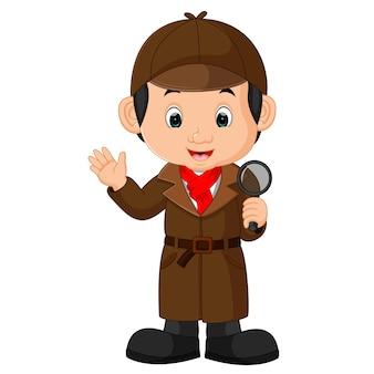 Detective jongen cartoon