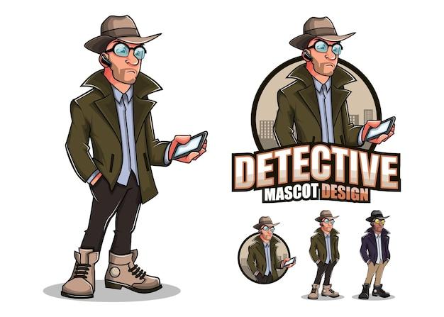 Detective mascotte