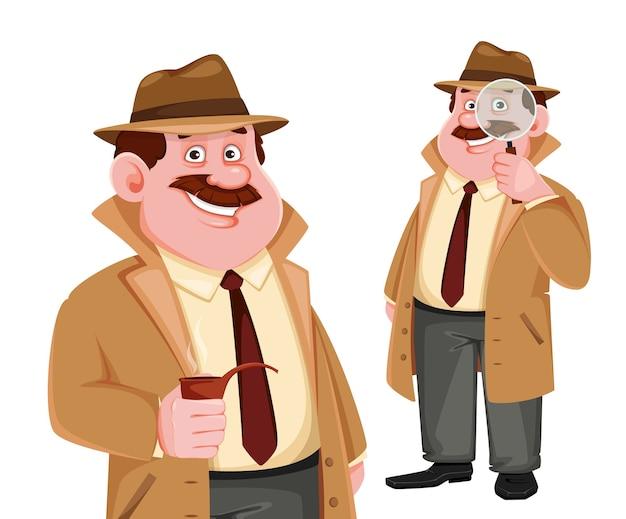 Detectivetekenset van twee poses