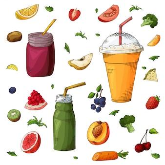 Detox cocktail gemaakt van groenten en fruit