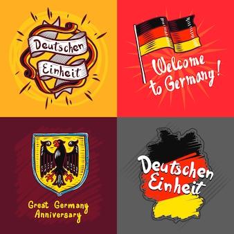 Deutschen einheit banner set