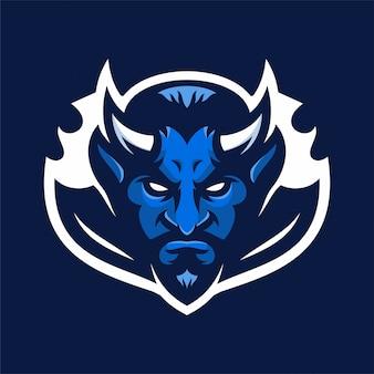 Devil mascot hoofd sport logo