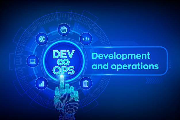 Devops. agile ontwikkeling en optimalisatie achtergrond