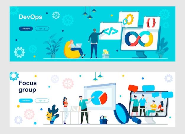 Devops en focusgroep-bestemmingspagina-set