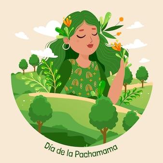 Dia de la pachamama illustratie