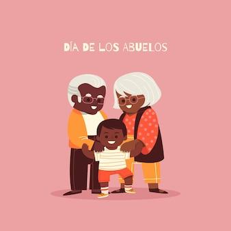 Dia de los abuelos illustratie