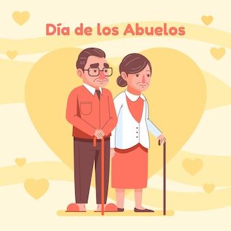 Dia de los abuelos viering illustratie
