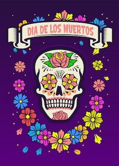 Dia de los muertos achtergrond
