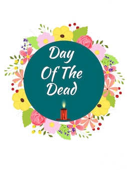 Dia de los muertos (dag van de doden) festival concept.