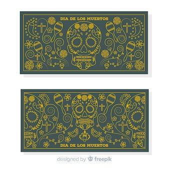 Día de muertos banner set
