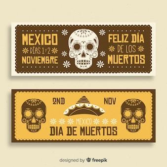 Día de muertos banners ontwerp