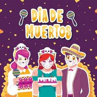 Dia de muertos festiv-kaart