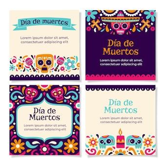 Dia de muertos instagram postverzameling