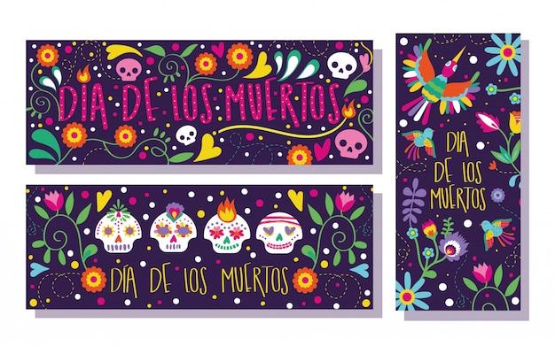 Dia de muertos kaartenset