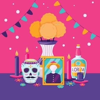 Dia de muertos mexicaanse traditie