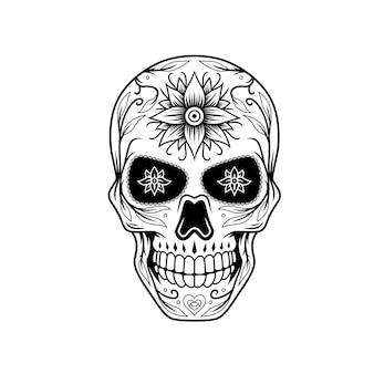 Dia de muertos schedel ontwerp c