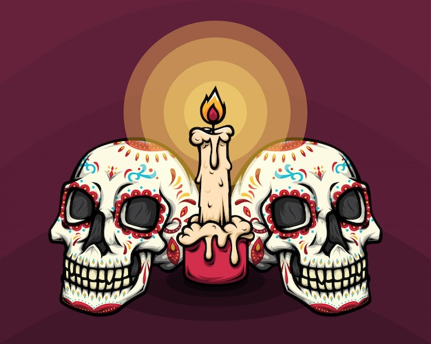 Dia de muertos skull