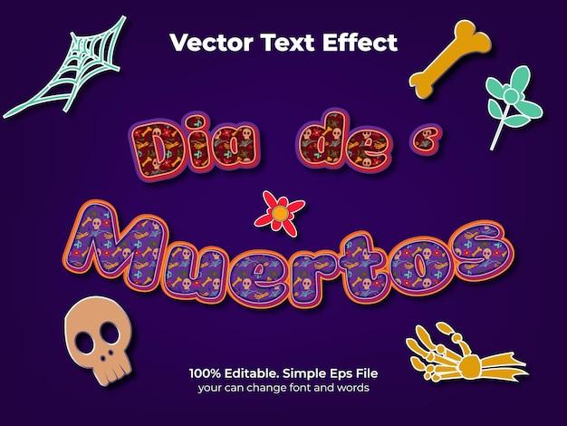 Dia de muertos teksteffect