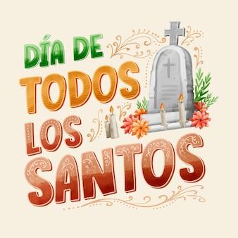 Día de todos los santos - belettering