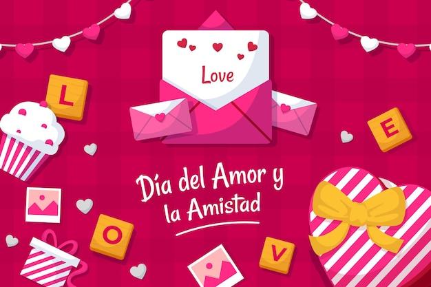 Día del amor y amistad illustratie