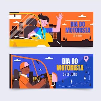 Dia do motorista-banners instellen