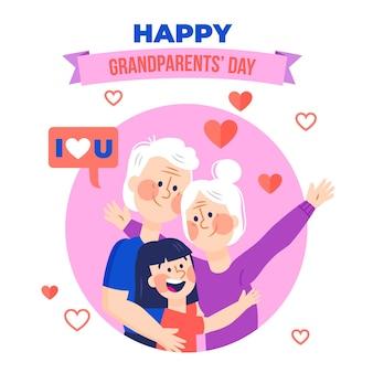 Dia dos avós geïllustreerd thema