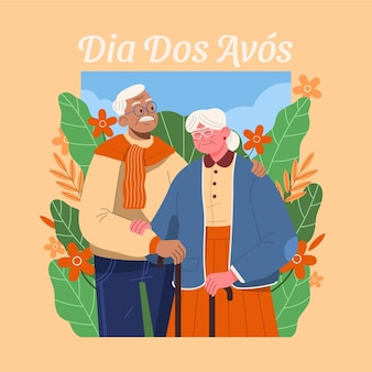 Dia dos avos illustratie