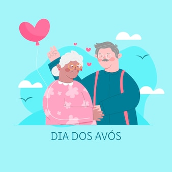 Dia dos avos viering illustratie
