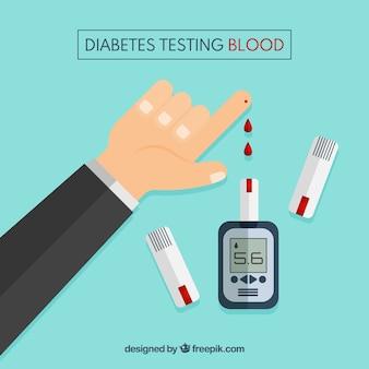 Diabetes die bloedachtergrond testen