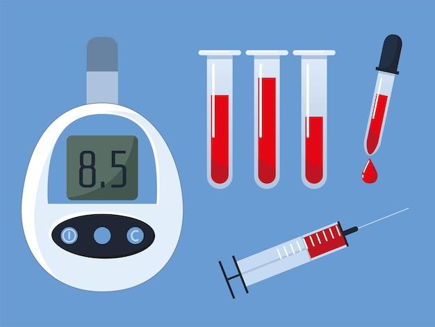 Diabetes pictogrammen instellen