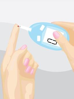 Diabetes testen vector