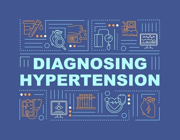Diagnose van hypertensie woordconcepten banner