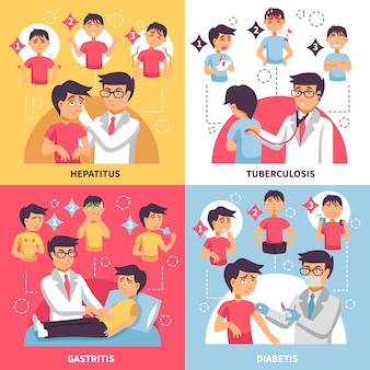 Diagnose ziekten conceptuele samenstelling