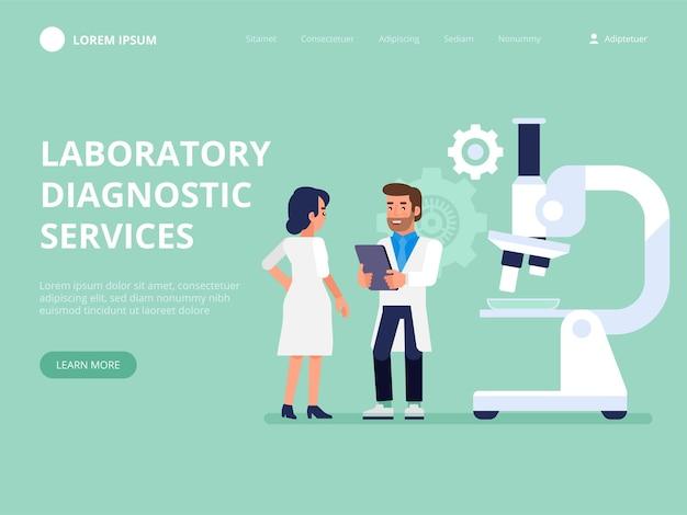 Diagnostische diensten in het laboratorium