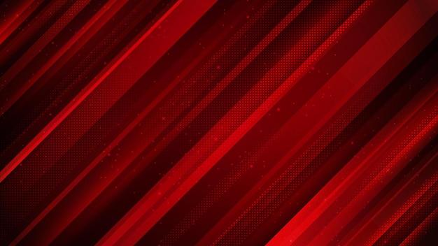 Diagonaal rood abstract ontwerp als achtergrond in dynamische stijl