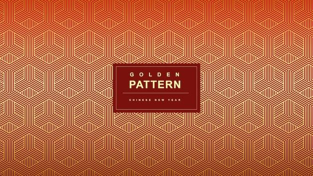 Diagonale gouden patroon chinees nieuwjaar achtergrond