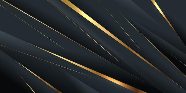 Diagonale laagvorm met gouden lijn
