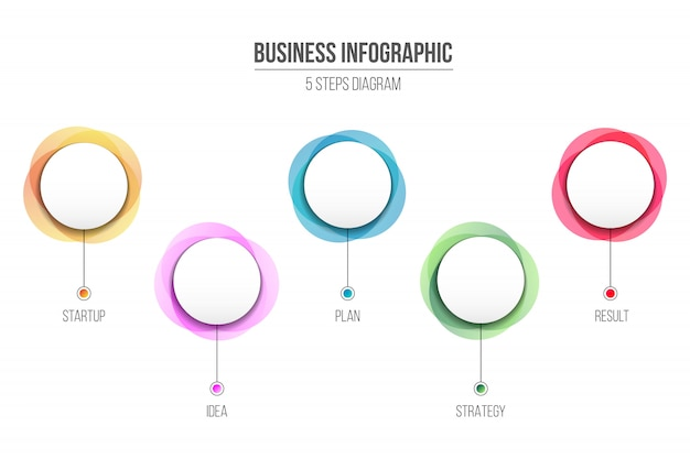 Diagram infographic informatie, 4 zakelijke stap.