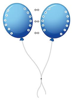 Diagram met elektrostatisch met ballonnen