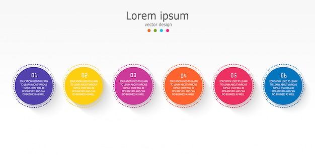 Diagram zakelijke en onderwijs infographic sjabloon