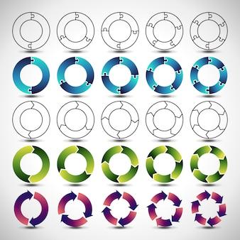 Diagrammen en afbeeldingen voor infographics