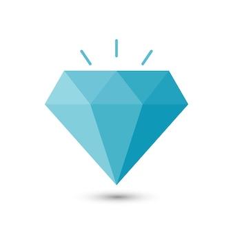 Diamant eenvoudig pictogram. vectorillustratie eps10